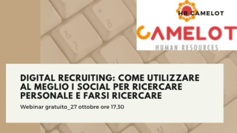 Webinar dedicato al Digital Recruiting: martedì 27 ottobre alle 17,30.