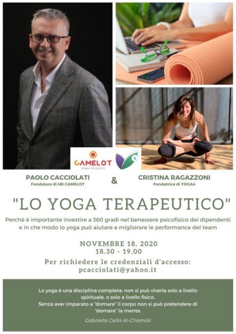 Talk dedicato alla ginnastica posturale e yoga terapeutico: mercoledì 18 novembre alle 18.30