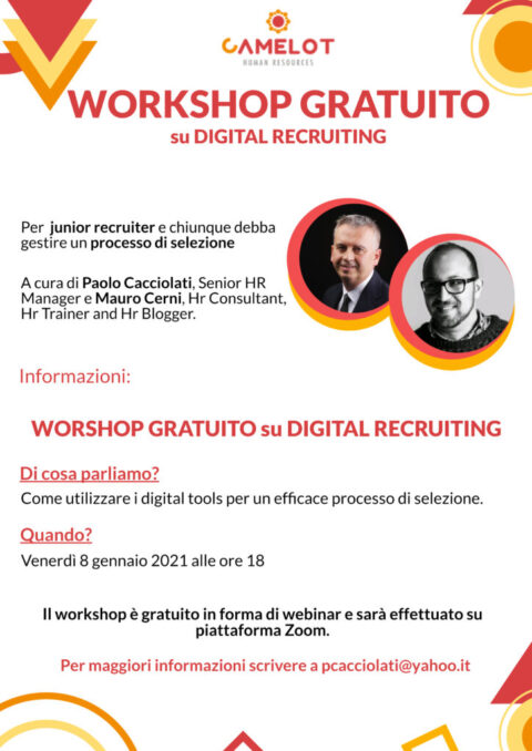 Workshop su digital recruiting_Venerdì 08 gennaio, ore 18.00